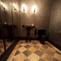 Timeless Rustic Ancient Surfaces In A Irish Rest Room.