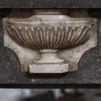 Fine European Antique Chimney in Marble.