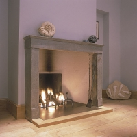Timeless Open Gas Fire With Original Fireplace Tools.