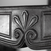 Detail of a fine European Origines antique fireplace surround.
